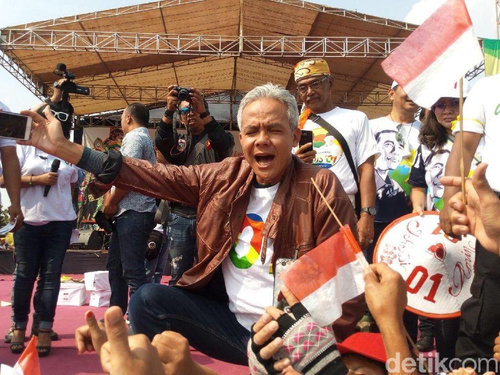 Hari Terakhir Kampanye, Ganjar Pesta Rakyat Satu Lembah Satu Rawa Ambarawa
