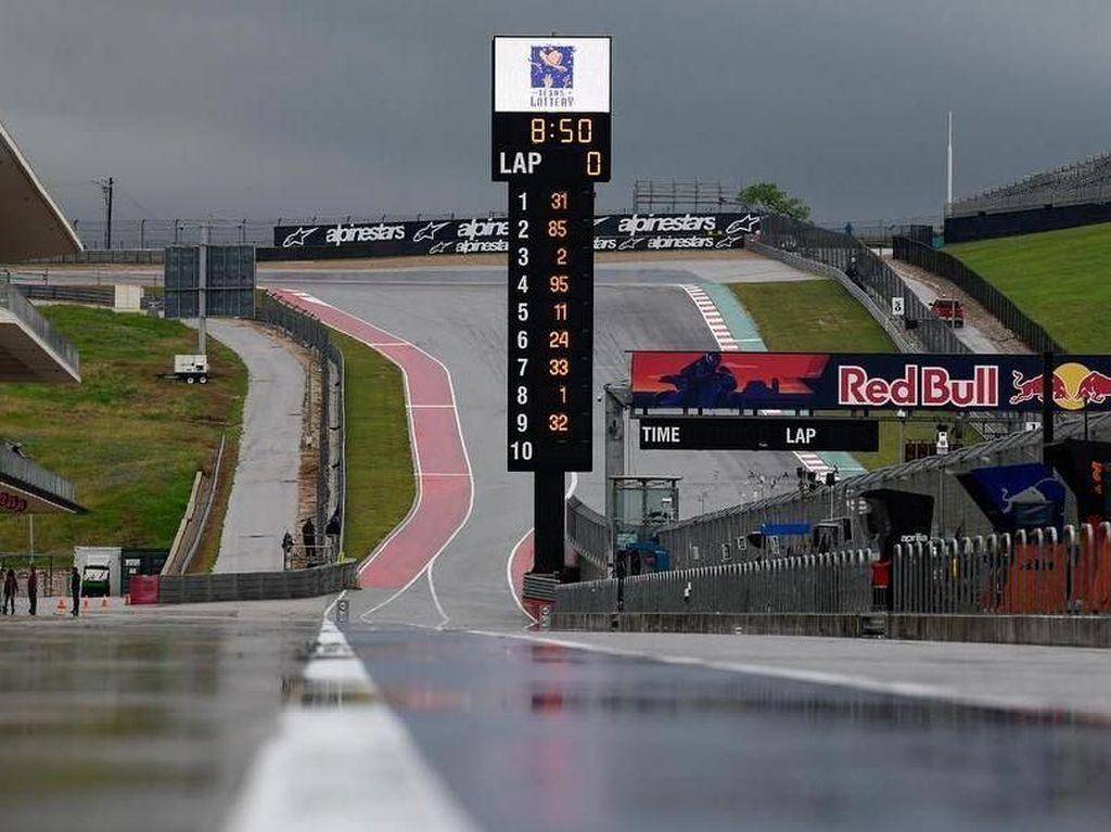 Cuaca Buruk Disertai Petir, FP3 MotoGP AS Dibatalkan
