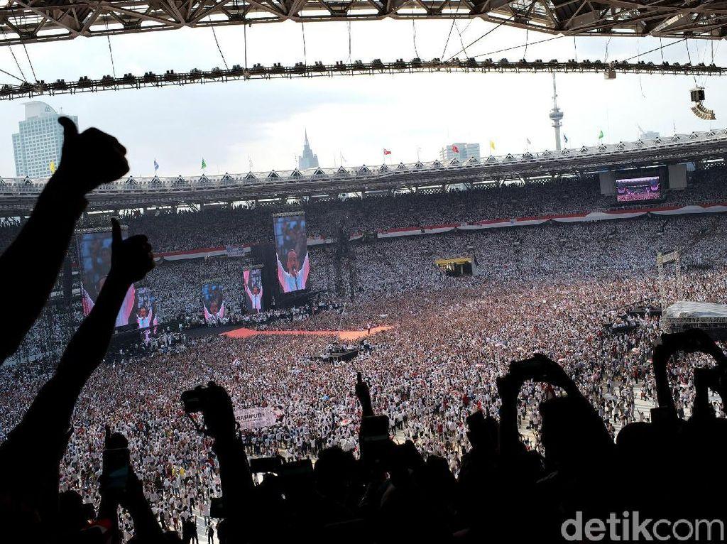 Ini Momen Meriahnya Kampanye Jokowi-Amin di GBK