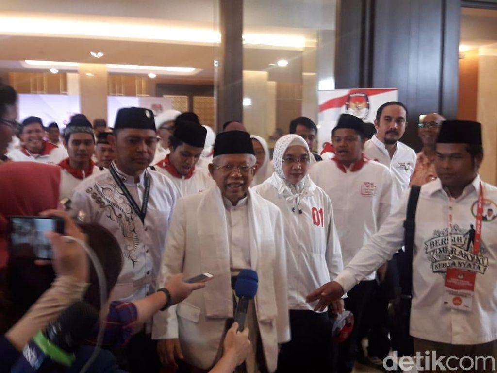 Maruf Amin Mengaku Berkampanye Seperti Jarum Super