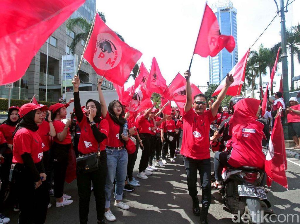 Antusiasme Massa Kampanye Jokowi di Bundaran HI