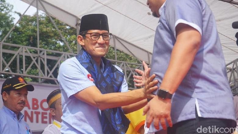 Kampanye di Tangerang, Sandi: Jaga TPS, Insyaallah Prabowo Menang
