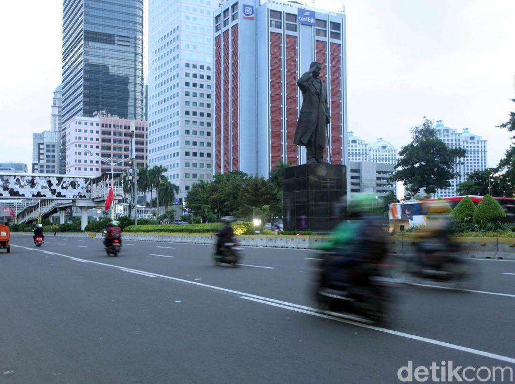 Jalan Sudirman Kembali Normal Usai Kampanye Jokowi