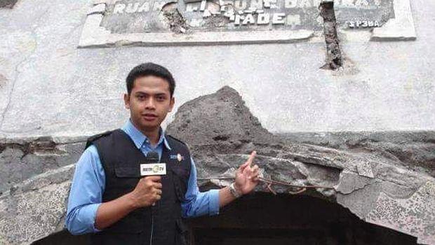 Tomy Ristanto saat mengawali karier sebagai reporter/