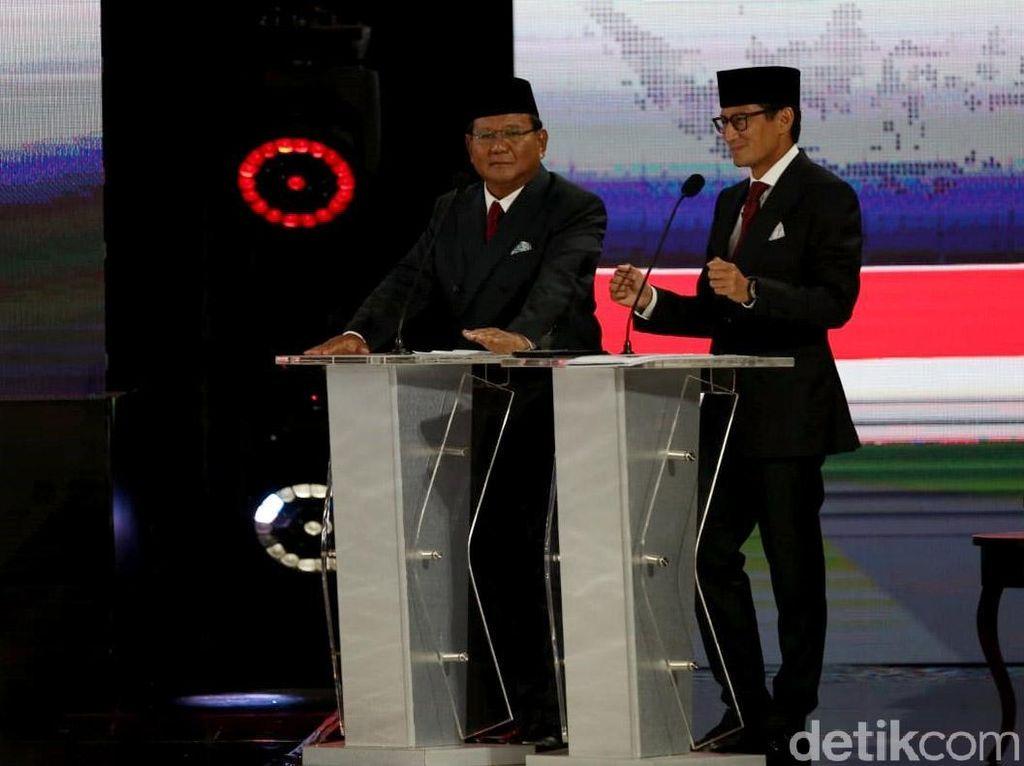 Tutup Debat, Sandiaga Sebut Tusuk Prabowo-Sandi 13 Kali