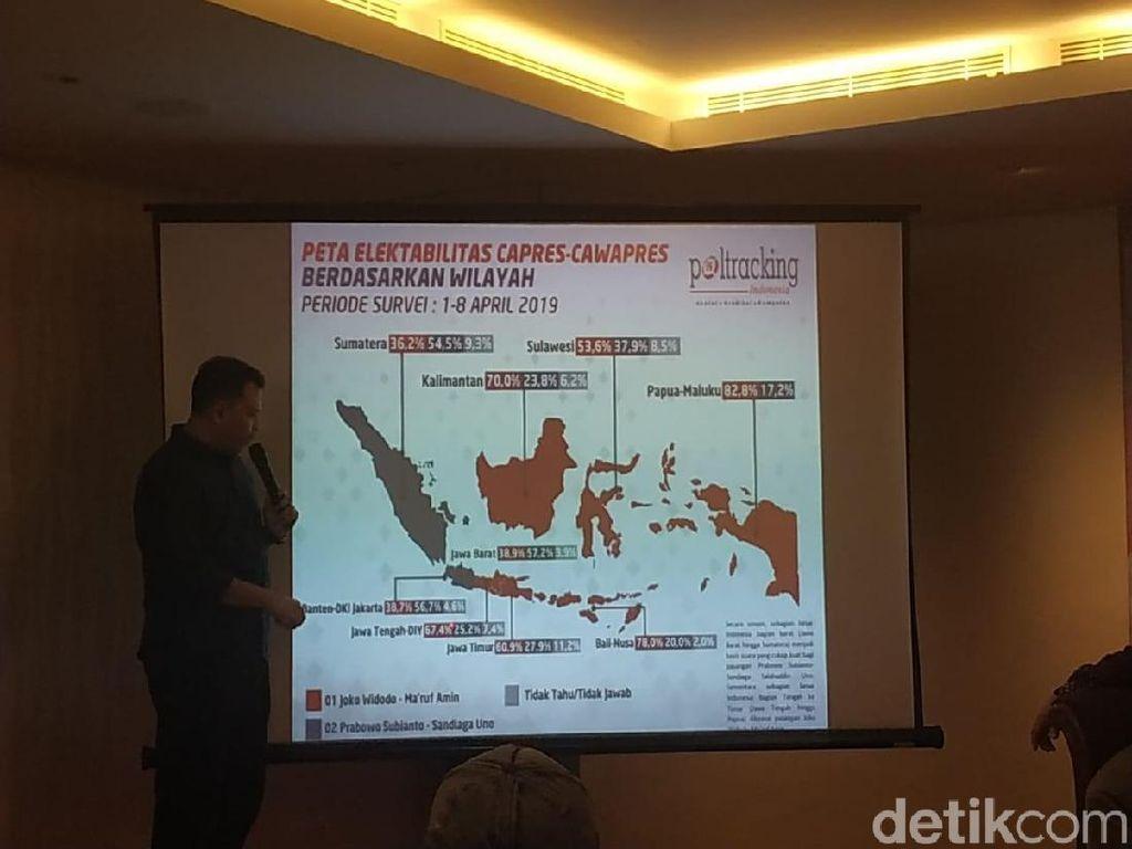 Survei Poltracking: Sumatera-Jabar Arena Tarung Sengit Pileg 2019