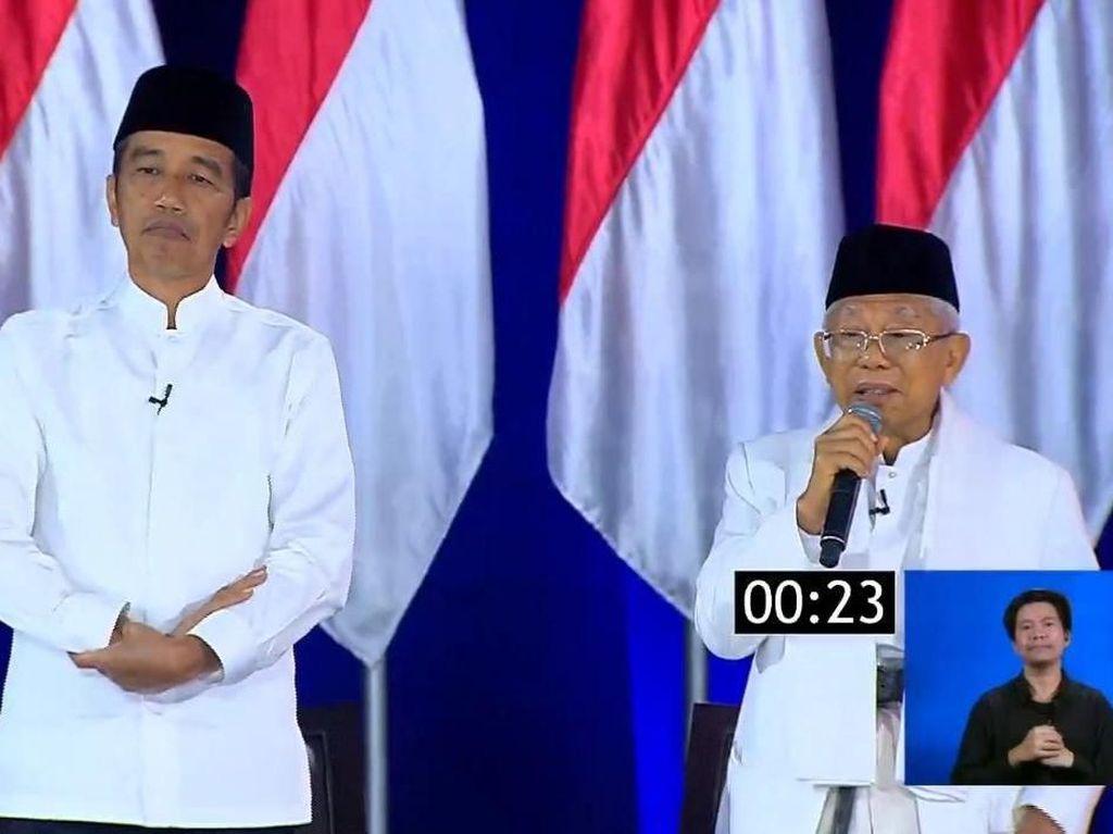 Maruf Serang Prabowo-Sandi soal 1% Elite Kuasai Banyak Aset