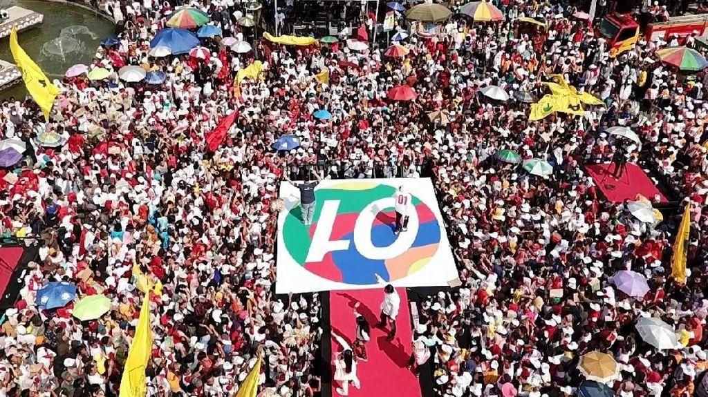 Ribuan Massa di Lampung juga Ramaikan Kampanye Terakhir