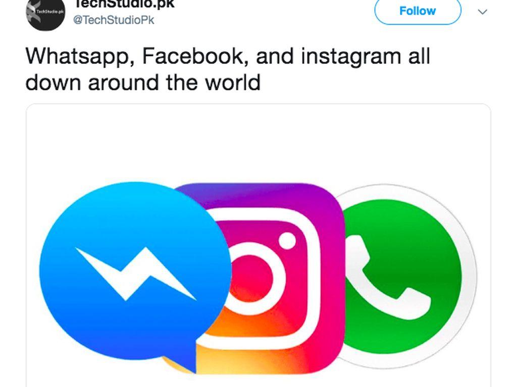 Netizen Ramai Curhat #whatsappdown dan #instagramdown