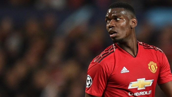 Gelandang Manchester United Paul Pogba. (Foto: Oli Scarff / AFP)