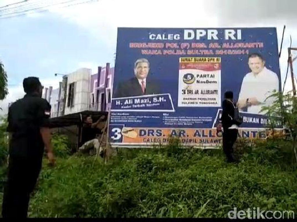 Bawaslu Sultra Terjunkan 7.815 Personel Bersihkan Baliho Caleg-Capres