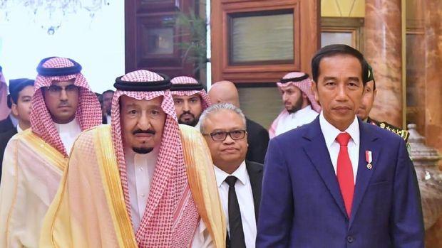 Presiden Jokowi Bertemu Raja Salman di Istana Pribadi Raja di Riyadh