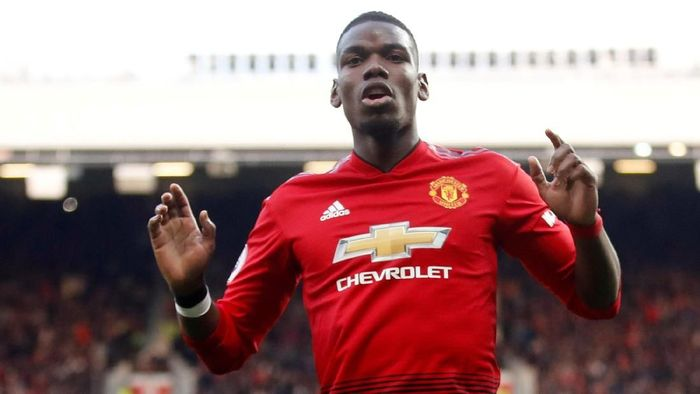 Pemain Manchester United, Paul Pogba. (Foto: Carl Recine/Action Images via Reuters)