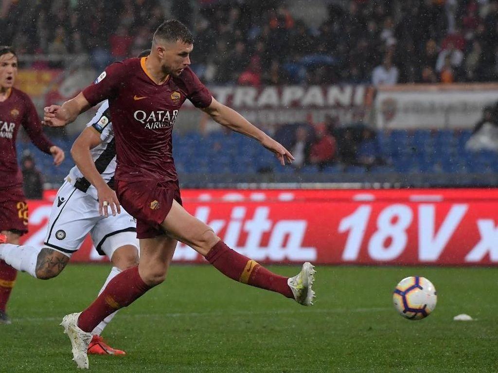 Hasil Liga Italia: Gol Tunggal Dzeko Menangkan Roma atas Udinese