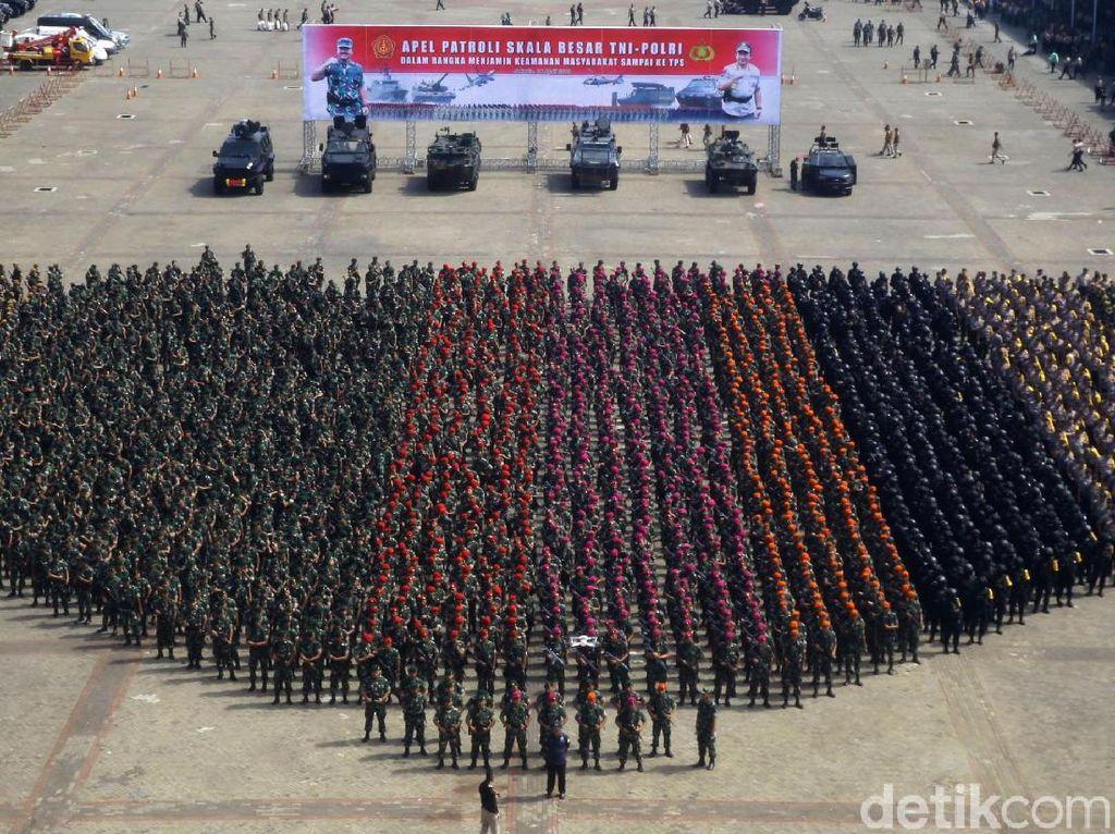 38.000 Personel TNI-Polri Siap Amankan Pemilu di Ibu Kota