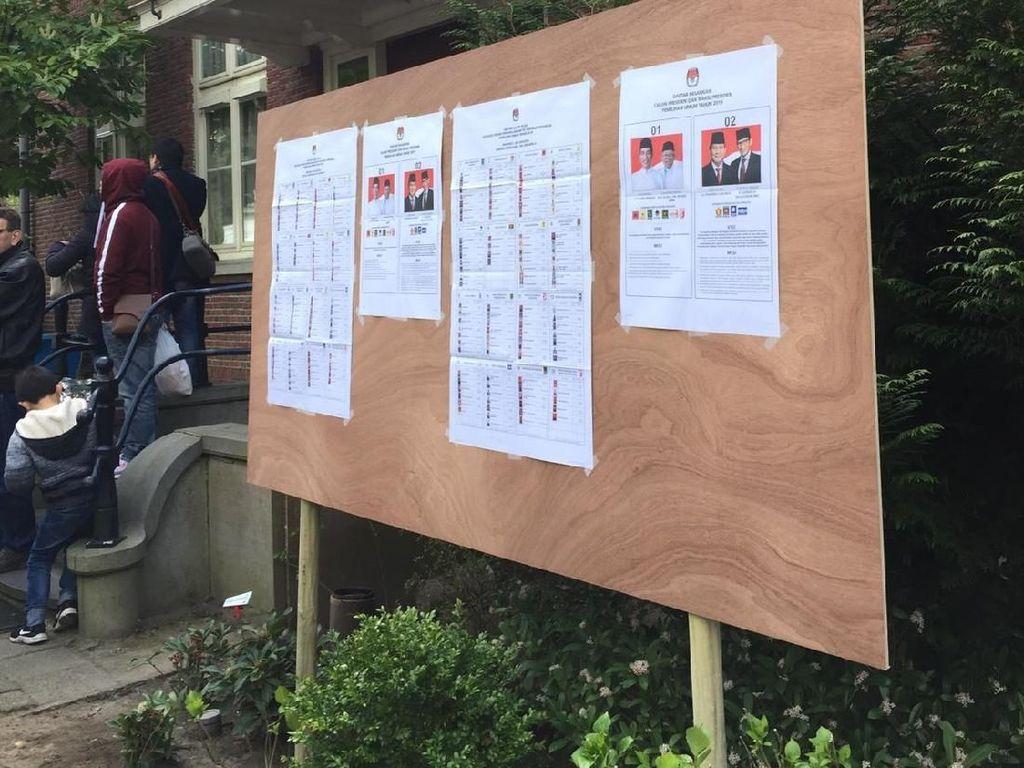 Foto: Suasana Pemungutan Suara Pemilu 2019 untuk WNI di Belanda