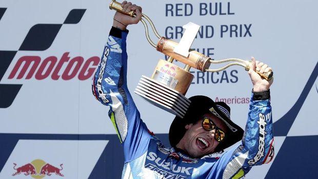 Alex Rins juara MotoGP Amerika 2019.
