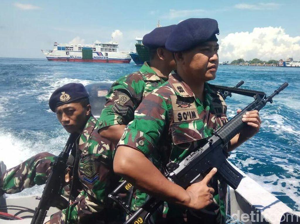 Pengamanan Selat Bali Diperketat Jelang Pemilu, TNI AL Gelar Sweeping