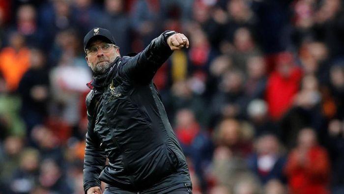 Juergen Klopp puas betul dengan penampilan Liverpool saat mengalahkan Chelsea 2-0 (REUTERS/Phil Noble)
