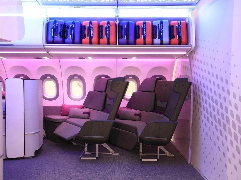 Foto: Airbus Bikin Sofa di Dalam Kabin Pesawat