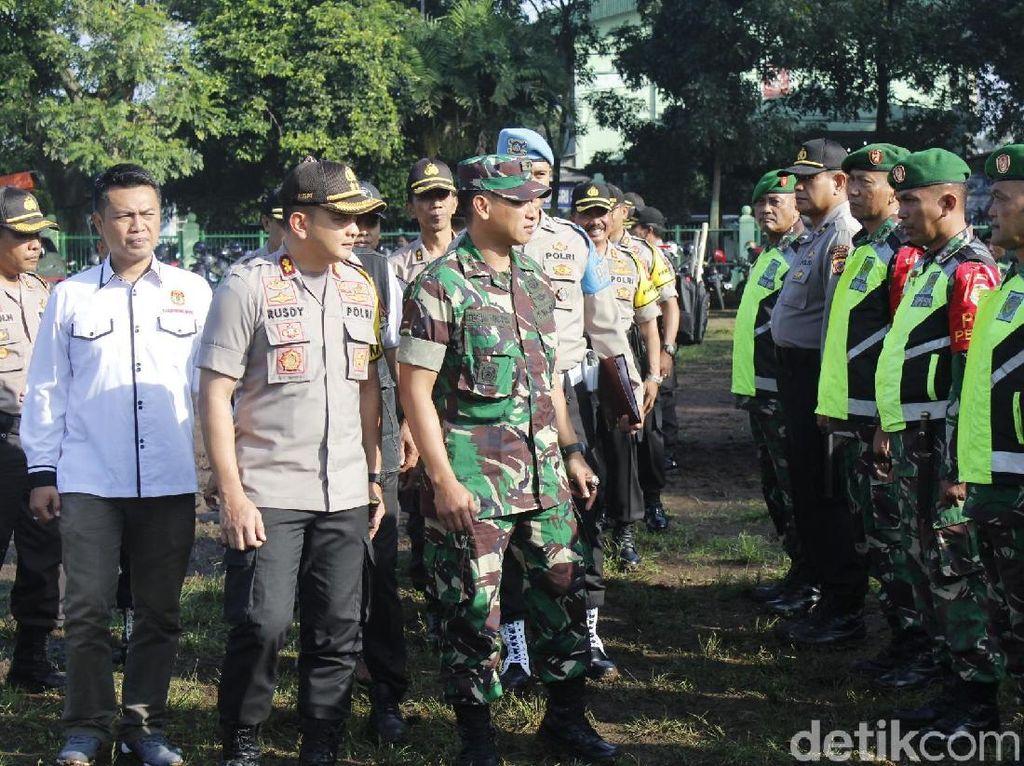 Kawal Ribuan TPS di Cimahi-KBB, Polisi dan Tentara Bidik Perusuh