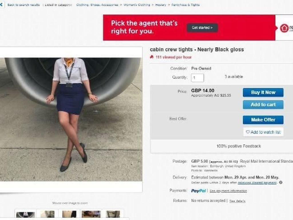 Duh! Pramugari Jual Legging ke Pembeli Mesum untuk Tambahan Uang