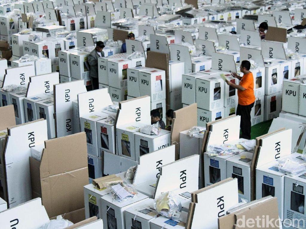 Logistik Pemilu di Tanah Abang Siap Didistribusikan