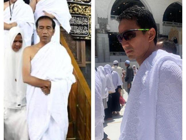 Cerita Umrah Jokowi dan Sandi