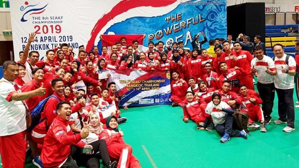 Indonesia Borong 8 Emas di Kejuaraan Karate Asia Tenggara