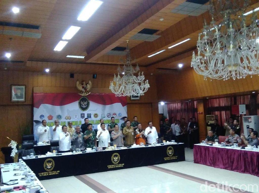 Masa Tenang, Menko Polhukam Rapat Bareng Kapolri-Panglima hingga KPU