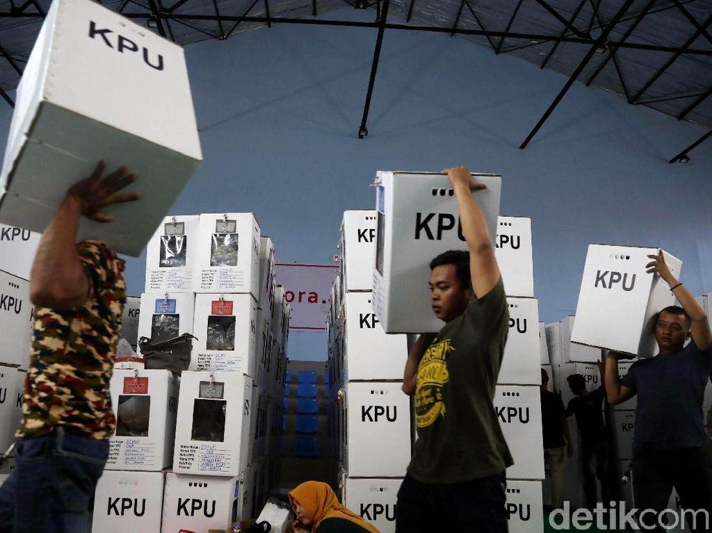 Logistik Pemilu di Kemayoran juga Mulai Didistribusikan