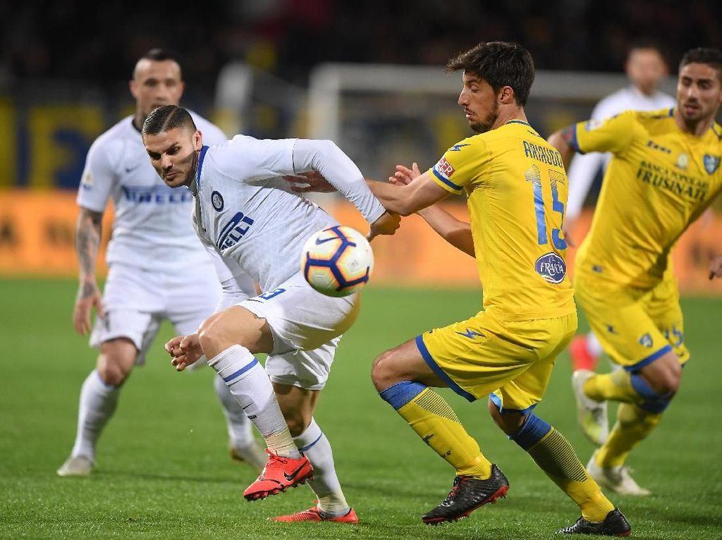 Hasil Liga Italia: Inter Taklukkan Frosinone 3-1