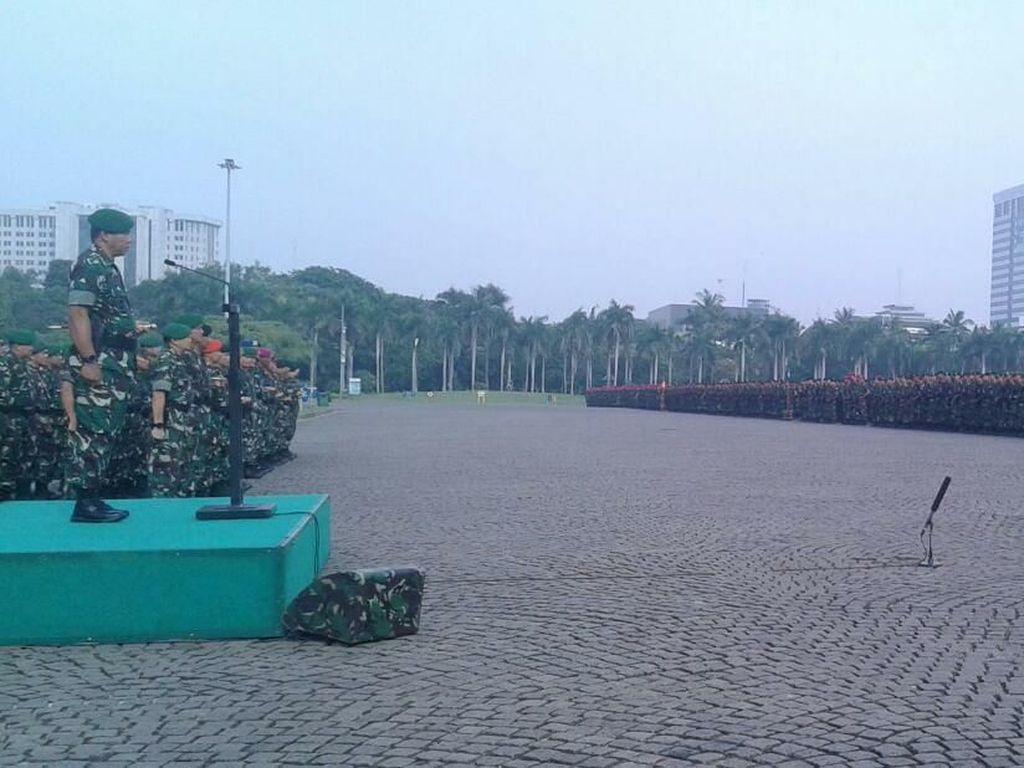 15.122 Personel TNI Amankan Pemilu di DKI, Dibekali Tombol Emergency