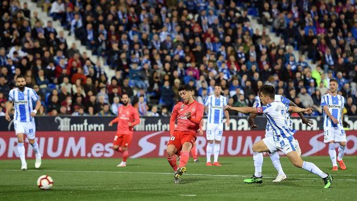 Madrid bermain imbang 1-1 saat melawat ke markas Leganes. Duel itu bermain diEstadio Municipal de Butarque, Selasa (16/4/2019). Foto: Denis Doyle/Getty Images)