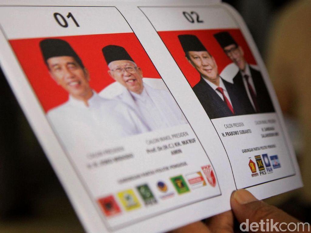 Situng KPU 80%: Jokowi-Amin Unggul 12,62% dari Prabowo-Sandi