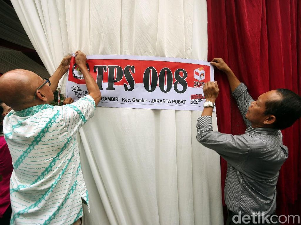 Melihat TPS 008 Tempat Jokowi Nyoblos Besok