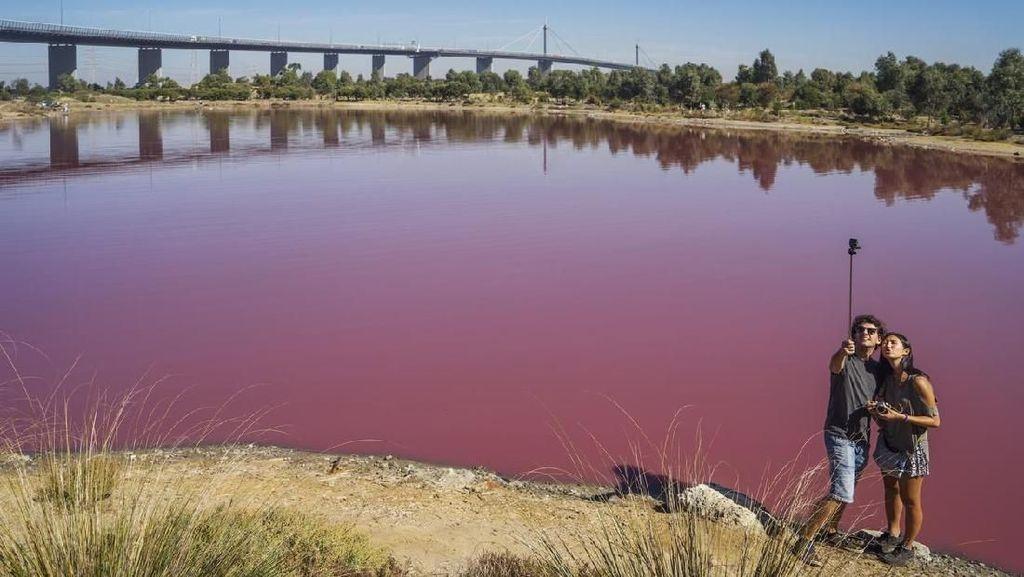 Foto: Danau Pink yang Cantik, Tapi Jangan Disentuh