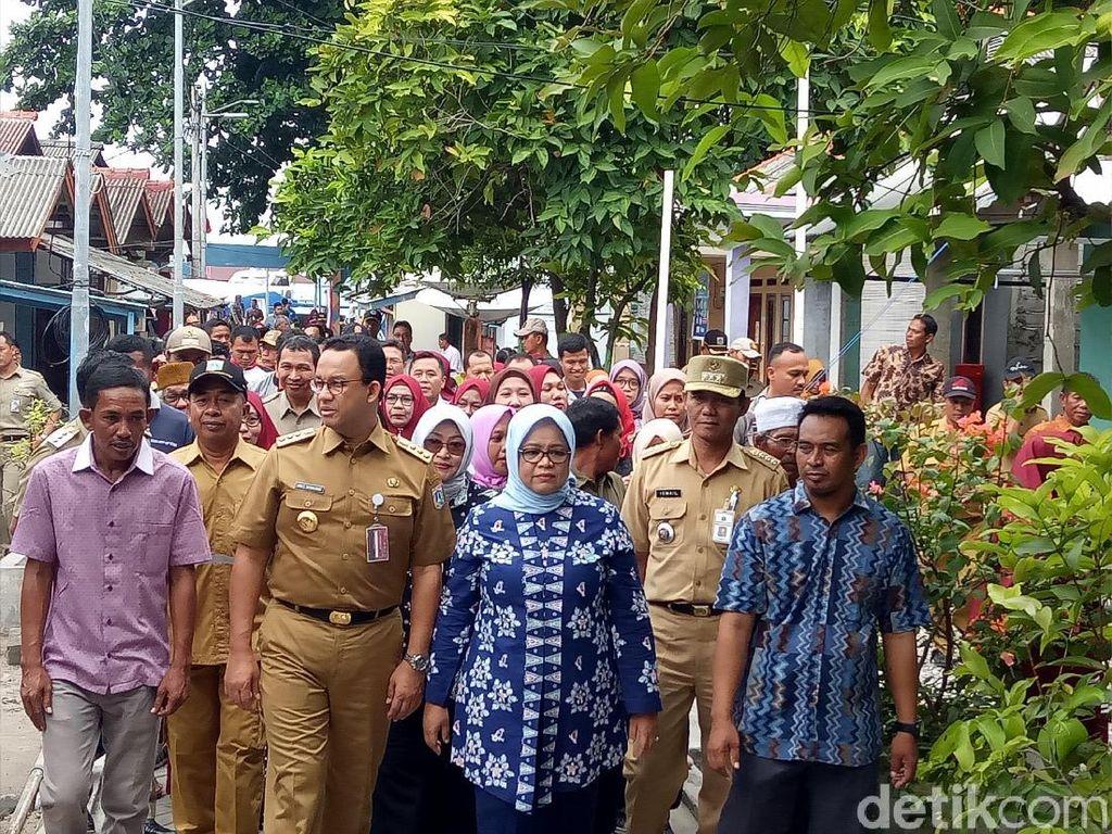 Jelang Pencoblosan, Anies dan KPU DKI Cek TPS di Pulau Sebira