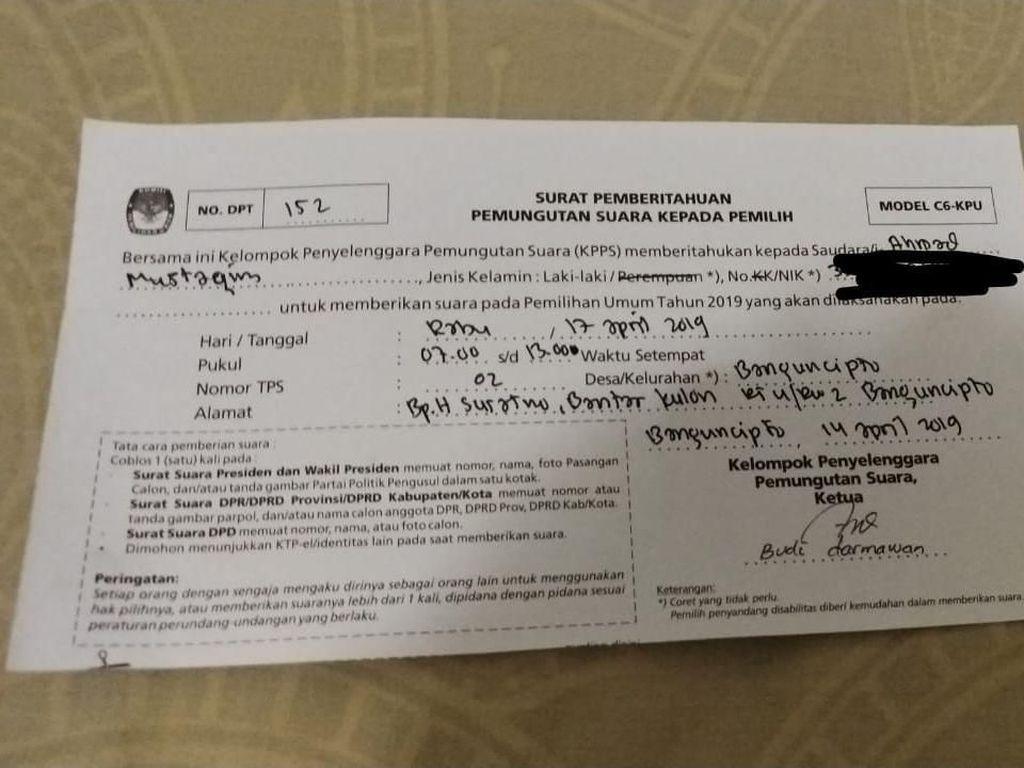 Warga Kulon Progo Ini Terdaftar di 2 DPT, Kok Bisa?