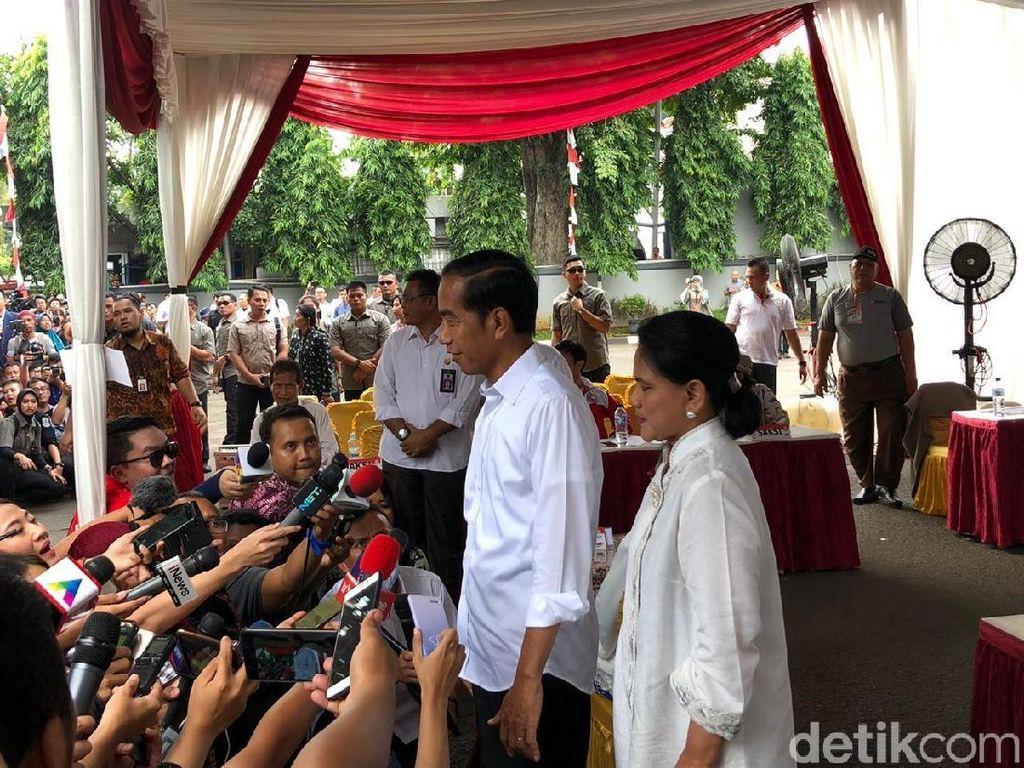 Semringah Usai Nyoblos, Jokowi Optimistis Menang