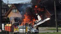 Pesawat Ringan Jatuh dan Tabrak Rumah di Chile, 6 Orang Tewas