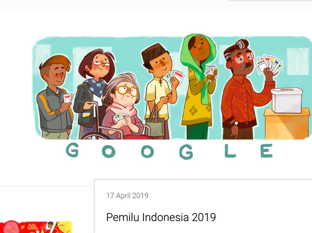 Lucunya Google Doodle Rayakan Pemilu 2019