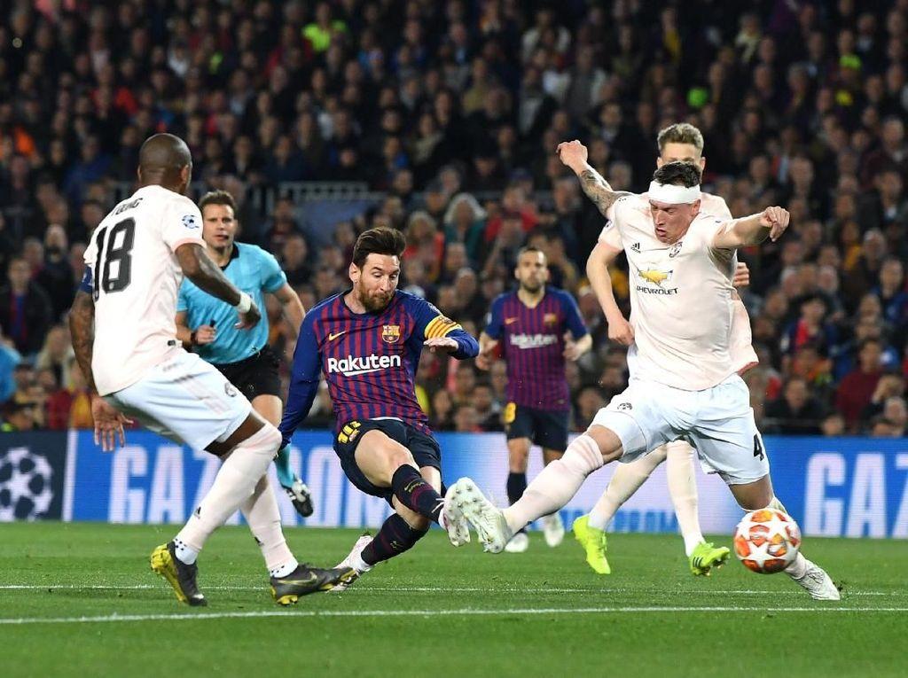 Babak I: Messi Dua Gol, Barcelona Ungguli Man United 2-0