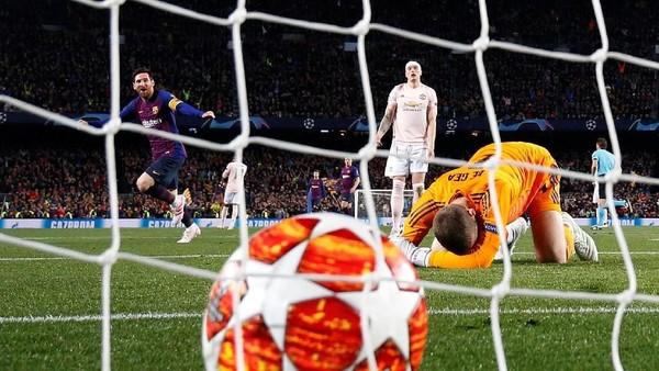 Lionel Messi mencetak gol terbaik babak perempatfinal Liga Champions. (Foto: Sergio Perez/Reuters)