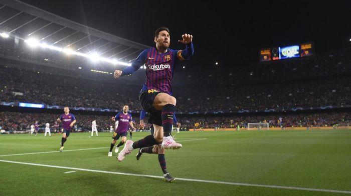 Lionel Messi memimpin jauh perburuan gelar top skor Liga Champions 2018/19. (Foto: Michael Regan / Getty Images)
