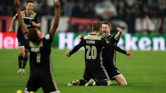 Ajax lolos ke semifinal Liga Champions usai menyingkirkan Juventus (Foto: Michael Steele/Getty Images)