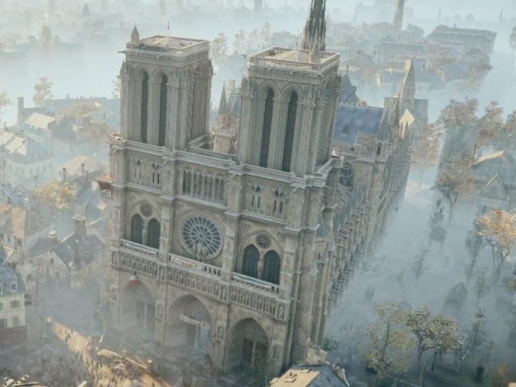 Game Assassins Creed Bisa Bantu Restorasi Katedral Notre-Dame