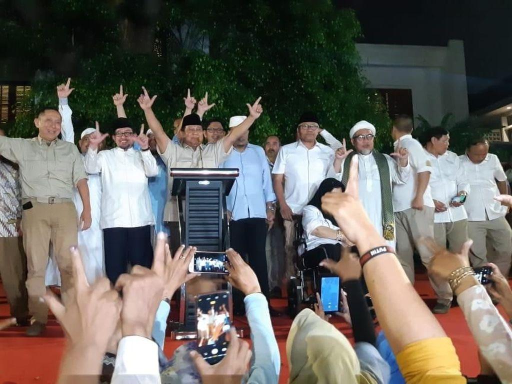 Video Prabowo Pidato Kemenangan Tak Didampingi Sandi