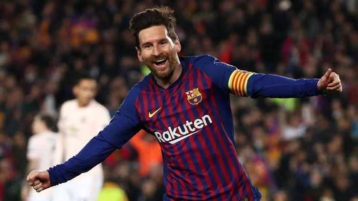 Kata Lionel Messi, dua golnya ke gawang Manchester United berbau keberuntungan (Sergio Perez/Reuters)