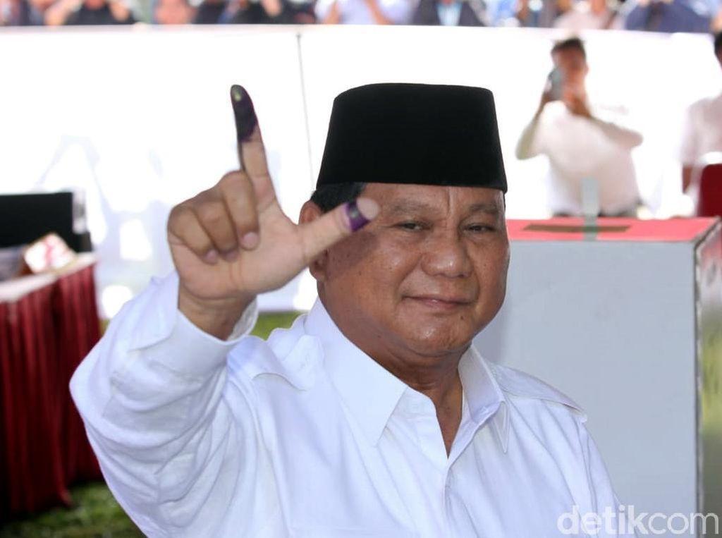 Usai Nyoblos, Prabowo Yakin Menang di Seluruh Indonesia